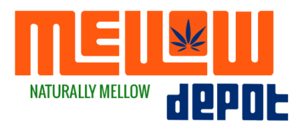 Mello Depot Logo Orange and Blue - naturally mellow